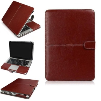 Harga YBC 11 Inch PU Leather Laptop Case Cover for MacBook Air Pro 13 15 Retina - intl