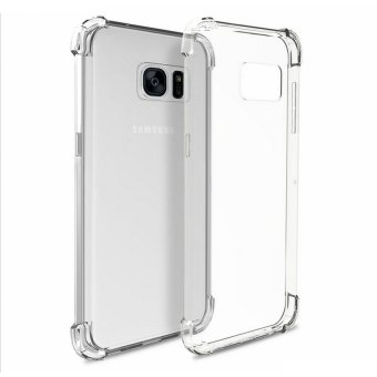 Harga German Import Shockproof Silicone Clear Case for Samsung Galaxy S7 Edge (Clear)