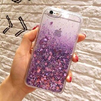Harga Luxury Liquid Glitter Heart Anti-Gravity Soft TPU Case for iPhone 7 Plus