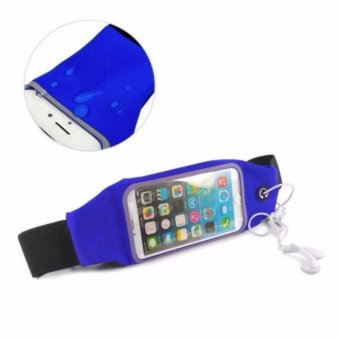 Harga Screen Touch Waterproof Waist Bag Pouch Case for iPhone 6Plus/6sPlus (Blue)