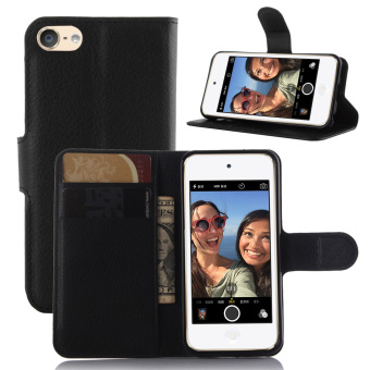 PopSky PU Leather Wallet Stand Flip Cover for iPod Touch 5 (Black) Price Philippines