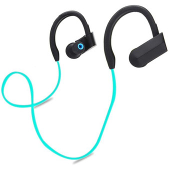 Harga Wireless Bluetooth Sports Stereo Headset Headphone Earphone For iphone 7 Blue