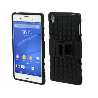 Harga Dual Layer 2 in 1 Rugged Hybrid Hard Case for Sony Xperia Z3 (Black) - intl