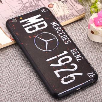 Harga Creative 3D Embossed License Plate Phone Cases For Apple Iphone 6/6s (Benz)