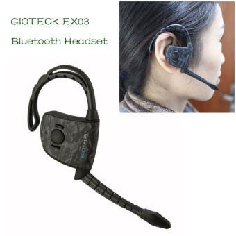 Harga EX03 Wireless Stereo bluetooth headset can connect 2 phones(Black) - intl