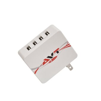 GEEK ROVER 4-port USB Travel Charger (White) Price Philippines