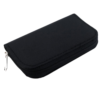 Harga Gracefulvara SD XD Micro Memory Card Storage Holder Carrying Pouch Case (Black)