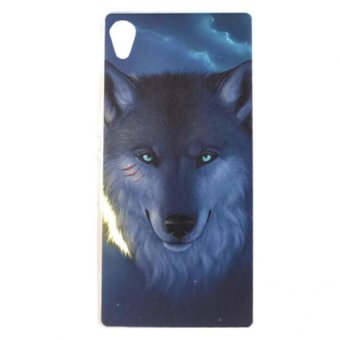 Harga Cases Place Wolf Design Hard Plastic Case for Sony Xperia M4 Aqua (Multicolor)