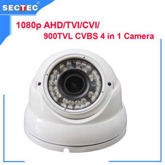 1080P AHD/TVI/CVI/CVBS 4 in 1 Camera with IR CUT, OSD HD 3MP 2.8-12 mm manual zoom lens Metal IR Dome Camera Price Philippines