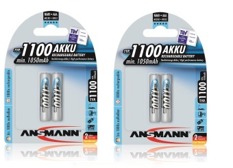 Ansmann NiMH AAA 1100 mAh x2 Rechargeable Battery Bundle of 2 Price Philippines