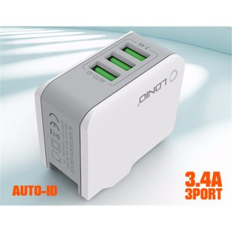 LDNIO 3 Fast USB Ports Travel Charger Travel Adapter /Plug A3303 Free Pouch - intl Price Philippines