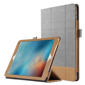 Harga BUILDPHONE PU Leather Smart Flip Pad Cover for Apple iPad Pro 9.7 (Grey) - intl