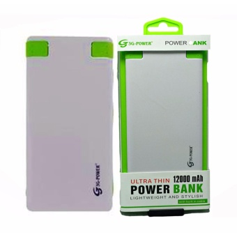 3G 12000mAh Power Ultra Slim Power Bank with Built-in Cable for Smartphones and Tablets Price Philippines
