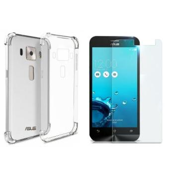 "German Import Silicone Shockproof Case for ASUS Zenfone 3 (5.5"") (ZE552KL) Bundled with Tempered Glass (Clear) Price Philippines"