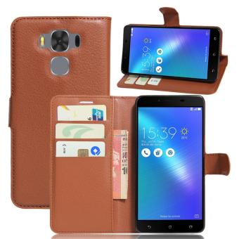 "PopSky Phone Cover Case for ASUS Zenfone 3 Max ZC553KL (5.5"") (Brown) - intl Price Philippines"