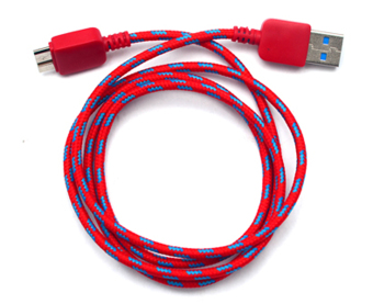 Harga TECH GEAR Woven Fabric Data Cable for Samsung Galaxy Note 3 (Red)
