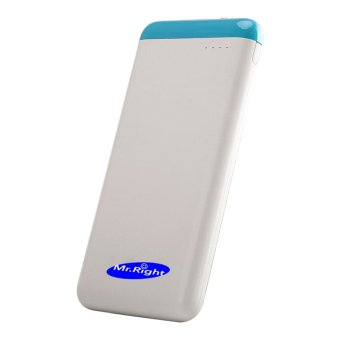 Mr. Right Original10000mah Power Bank With Qualcomm QuickCharge 3.0 (Sky Blue) Price Philippines