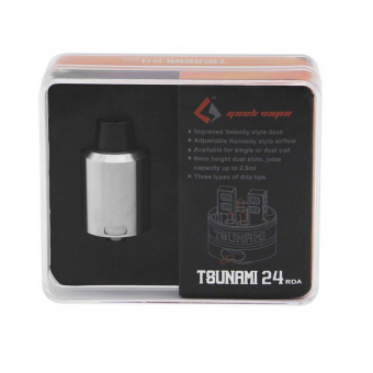 Geek Vape Tsunami 24 Rebuildable Dripping Atomizer RDA Improved Velocity Style Deck (Stainless Steel) Price Philippines