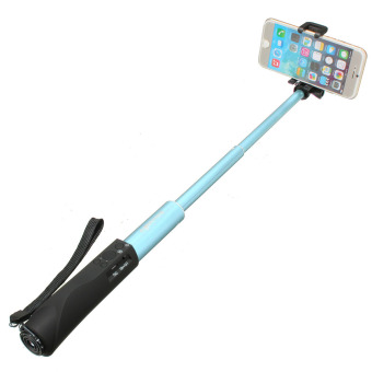 BlitzWolf Extendable Bluetooth Remote Monopod (Blue) - intl Price Philippines