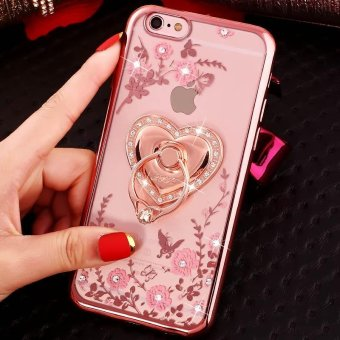 Harga Soft Phone Case Lady Phone Cover For iPhone 7 Plus With Ring Holder - intl