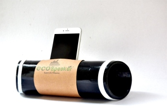 EcoSpeaker Bamboo Docking Station (Black/Green) Price Philippines