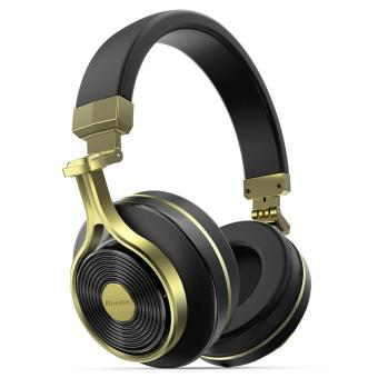 Bluedio T3 (Turbine 3rd) Extra Bass Wireless Bluetooth 4.1 Stereo Headphones (Gold) -intl Price Philippines