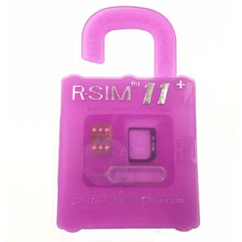 Harga R-SIM RS-11+ The Best Unlock and Activation SIM for iPhone 4S/5/5C/5S/6/6Plus/6S/6sPlus7/7Plus (Gold)