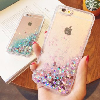 Harga Luxury Liquid Glitter Anti-Gravity Soft TPU Case for iPhone 7 Plus