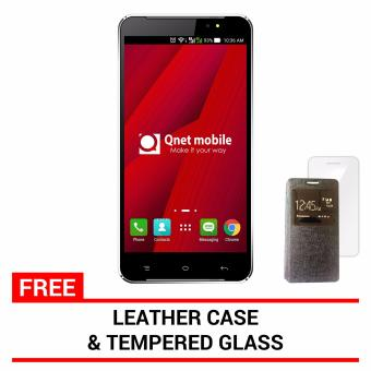 Harga QNET Mobile Hynex Plus 2 8GB (Black) with FREE Leather Case and Tempered Glass