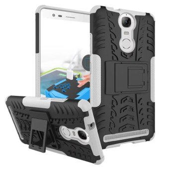BYT Rugged Dazzle Case for Lenovo K5 Note with Kickstand (White) Price Philippines