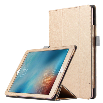 Harga BUILDPHONE PU Leather Smart Flip Pad Cover for Apple iPad Air 1/iPad 5 (Gold) - intl