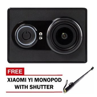 XiaoMi Yi/XiaoYi International Version 16MP Action/Sports Camera (Black) with Free Xiaomi Yi Monopod Stick with Remote Control Bluetooth Shutter (Black/Gold) Price Philippines