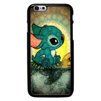 Harga Swimming Stitch Pattern Phone Case For iPhone 6/6s (Black)