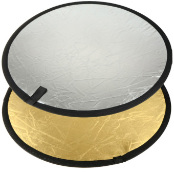 Harga Light Muti Collapsible Gold and Silver Reflector Photo