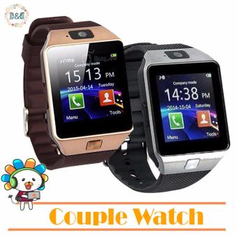 Harga D&D Couple Watch DZ09 Bluetooth Touch Screen Smart Watch with Camera (Brown/Silver)