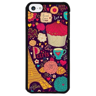Harga Y&M Colorful Cup Cake Paris Phone Case for iPhone 5C (Multicolor)