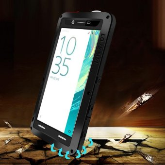 Harga LOVE MEI for Sony Xperia X Shockproof Dropproof Dustproof Protection Case - Black - intl