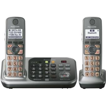 Harga Panasonic KX-TG7741S DECT 6.0 Link-to-Cell via Bluetooth Cordless Landline Phone with Answering System,Silver, 1 Handset