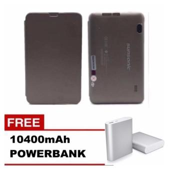 "Sunsonic L04A 7"" 3G Single Sim Cellular Tablet 8GB with cover with Free 10400mAh Power Bank Price Philippines"