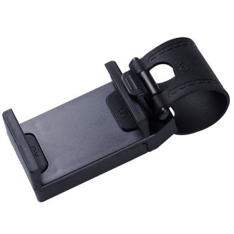 2016 Universal Car Steering Wheel Mobile Phone Holder (Black) Price Philippines