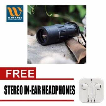 Harga Bushnell Monocular Muti-Coated Optics with free Stereo In-Ear Headphone (White)