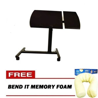 Harga Folding Computer Desk (Black) With FREE Bend It Memory Foam