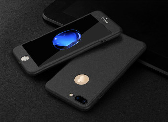 PopSky Phone 360 Degrees Cover Case for iphone 7 Plus (Black) - intl Price Philippines