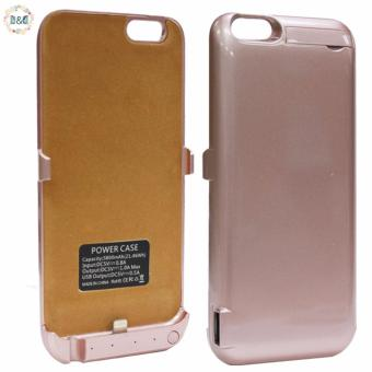 Harga D&D Power Case External Battery Backup Charger Case Pack Power Bank for Apple iPhone 6/6S 4.7inch (Rose Gold)