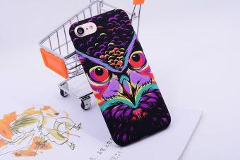 SHUNJIA [Night Luminous Glow] Owl Pattern Soft TPU Silicone Case For iPhone 7 - intl Price Philippines