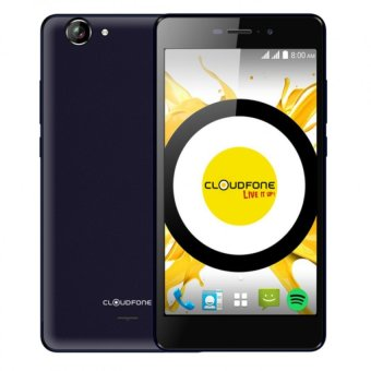 Harga Cloudfone Excite Prime 16GB (Blue) with Free Spotify Edition Earphones, Back Cover Case and Screen Protector