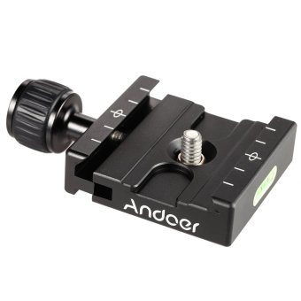 Harga Andoer QR-50 Quick Release Plate Clamp Adapter with Built-in Bubble Level for Arca Swiss RRS Wimberley Tripod Ball Head Outdoorfree