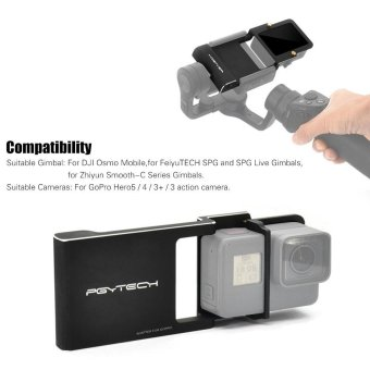PGYTECH Adapter Switch Mount Plate for GoPro HERO5 4 3+ Camera & for DJI Osmo Mobile Gimbal for FeiyuTECH SPG and SPG Live Gimbals for Zhiyun Smooth-C Series Gimbals Outdoorfree - intl Price Philippines