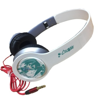 Harga Anime - Miku Hatsune Design Beat Headphone ( White )