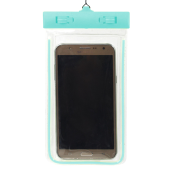 Harga Great Deals Glow in the Dark Water Proof Case for Mobile Phone (Baby Blue)